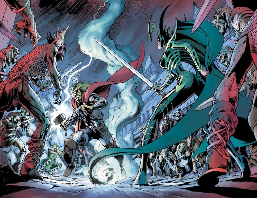 Thor, Thor: Ragnarok, Hela, Marvel, Marvel Comics, Komiksy