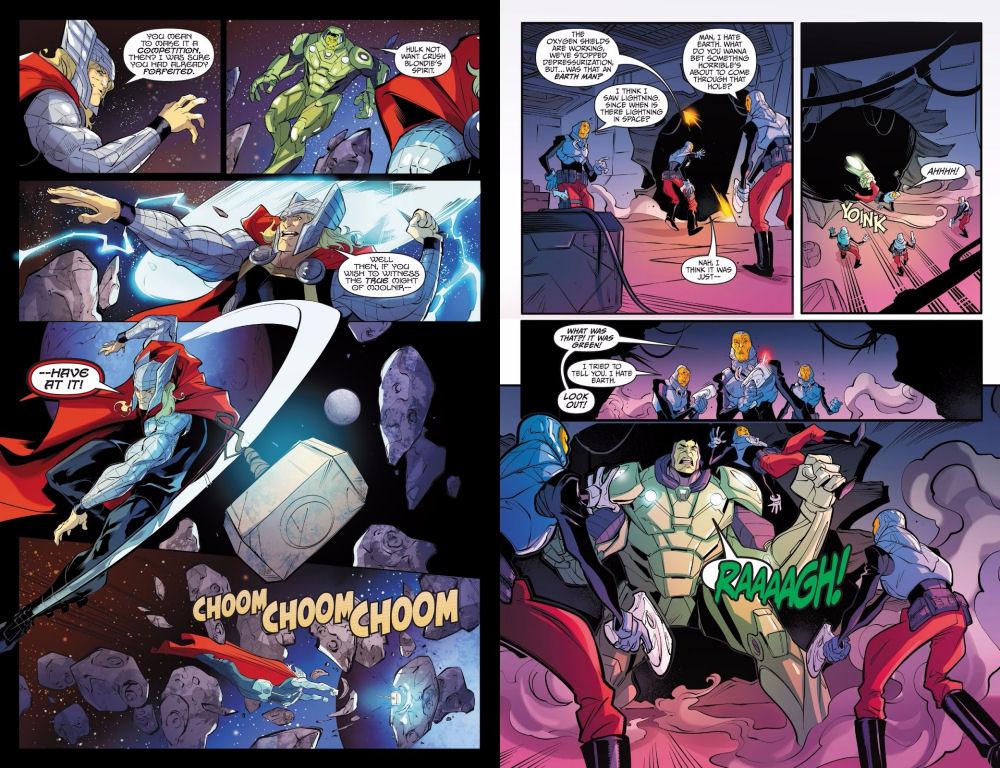 Thor, Hulk, Champions of the Universe