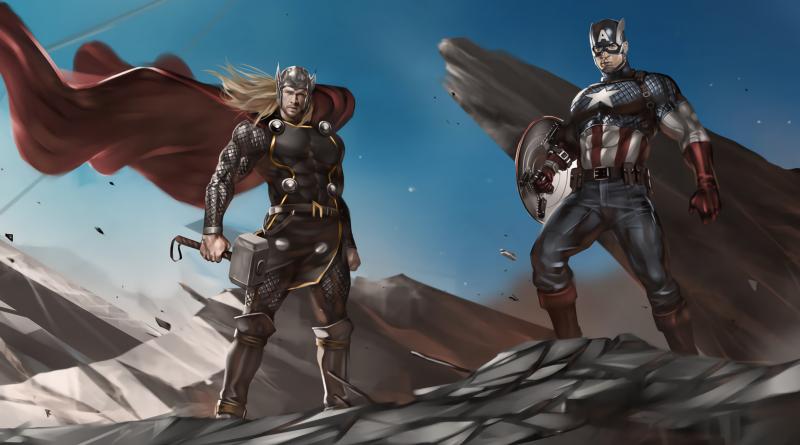 Captain America, Thor, Plakaty