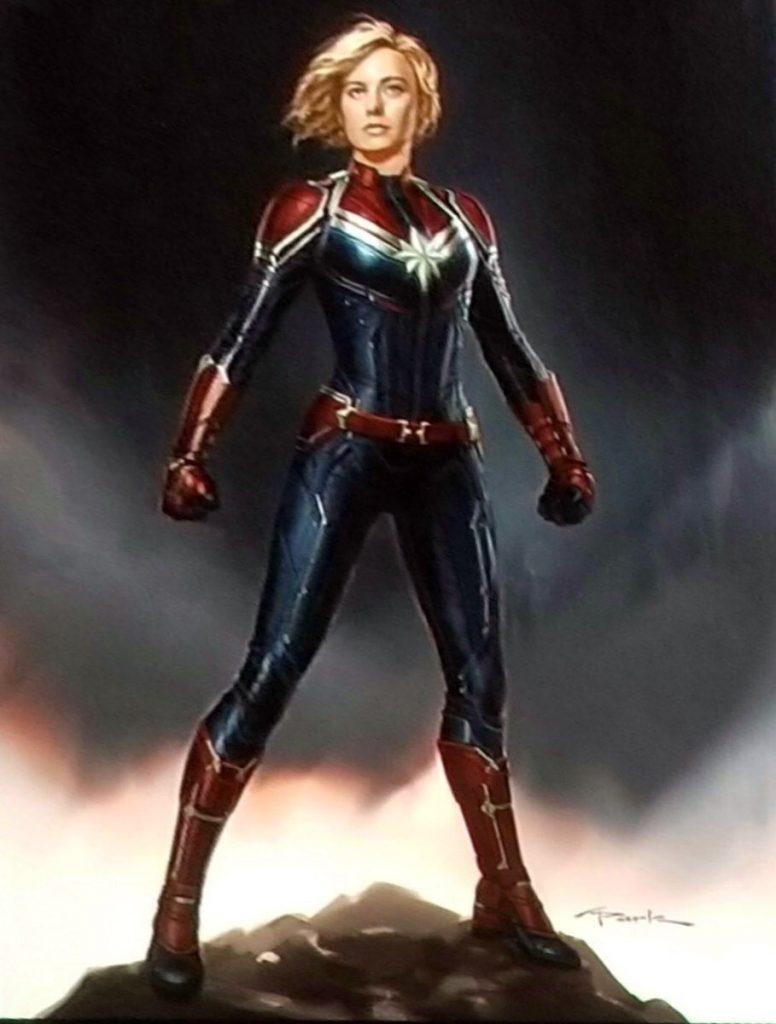 Captain Marvel - szkic koncepcyjny, autor: Andy Park