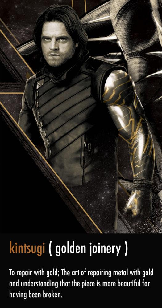Winter Soldier, Bucky, Infinity War, Golden Arm