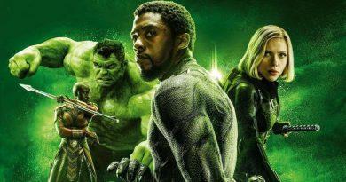 Avengers Infinity War, Black Panther, Black Widow, Hulk, Okoye