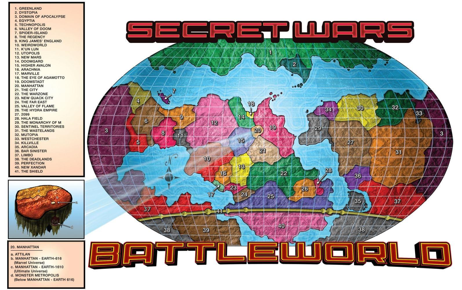 Tajne Wojny, Secret Wars, Battleworld