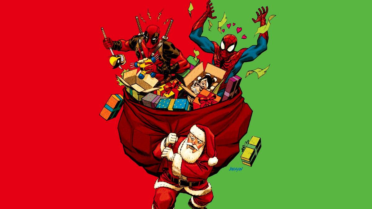 Marvel, Spider-Man, Deadpool, Santa, Prezenty, Prezentów, Christmas, Planeta Marvel, Holidays