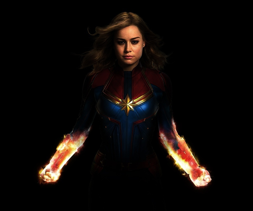 Captain Marvel, Brie Larson, Binary, Charging Up