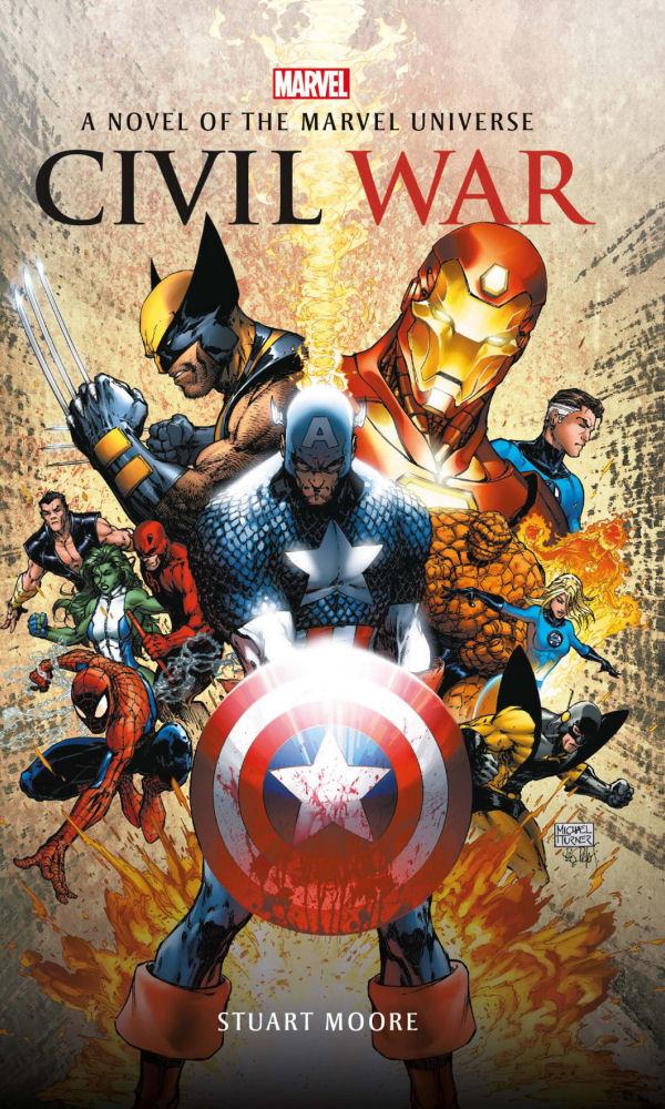 Civil War, Insignis, Wojna Bohaterów, Stuart Moore, Novel