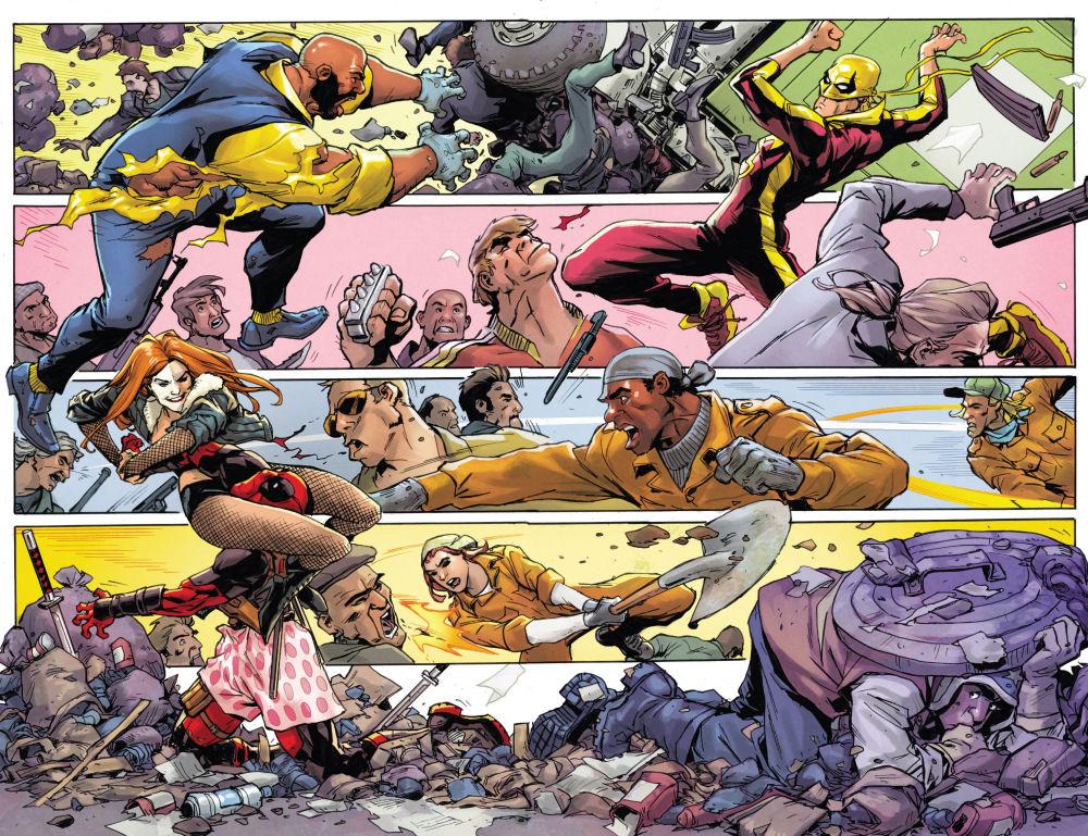 Deadpool, Śmieciowa Opowieść, Iron Fist, Luke Cage, Power Man, Typhoid Mary