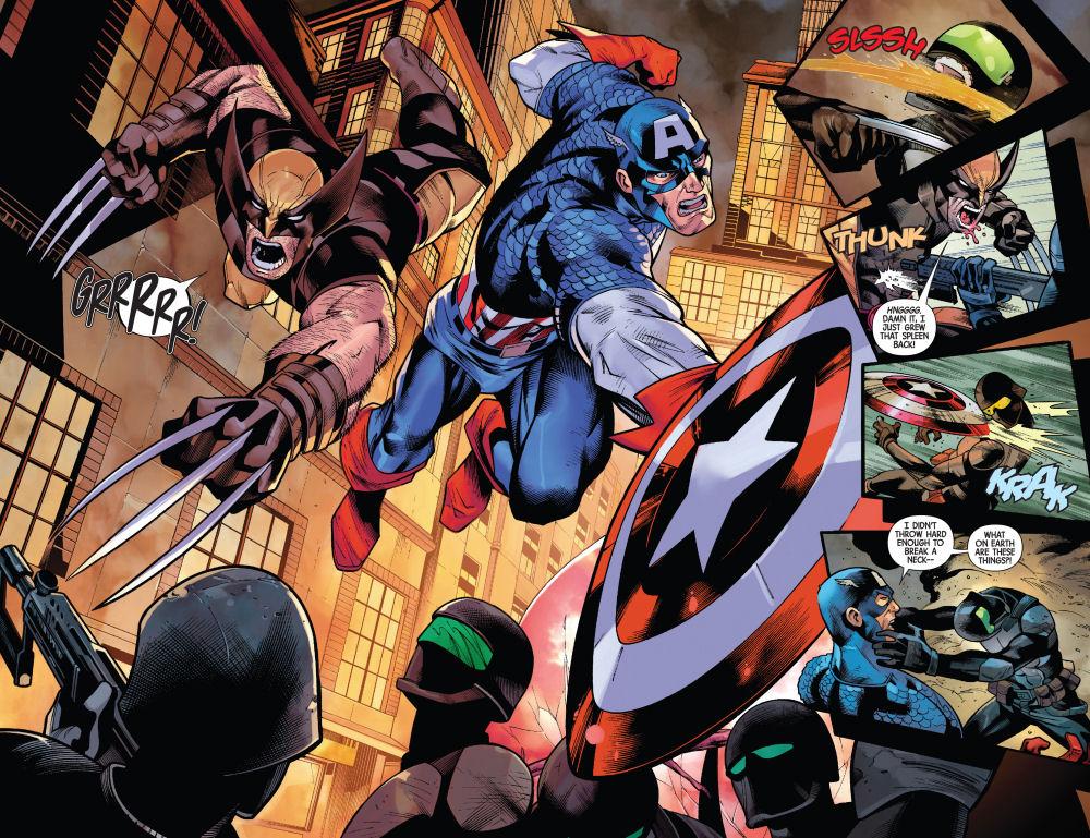 Wolverine, Captain America