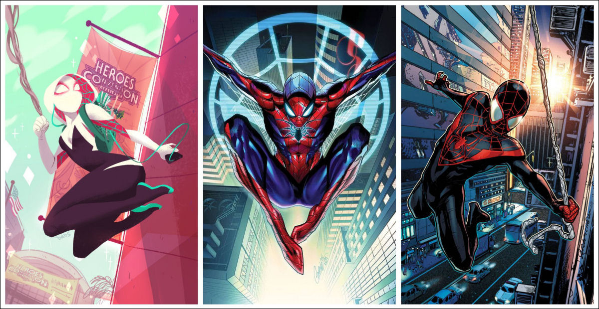 Ghost-Spider, Spider-Gwen, Spider-Man, Ultimate Spider-Man, Peter Parker, Gwen Stacy, Miles Morales